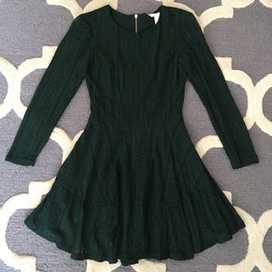 Forest Green Fit and Flare Dress